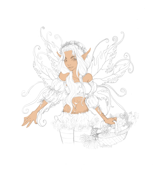 WIP! my autumn fairy