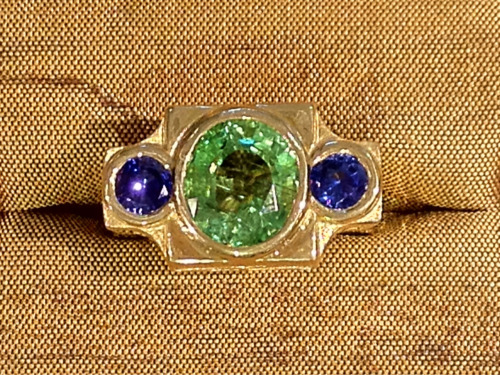 Check out the size of the stones i the Cristen Jewels gold ring?  Decadent Deco!