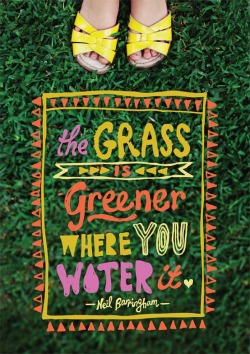 The grass is greener where you water it. - Neil Barringham