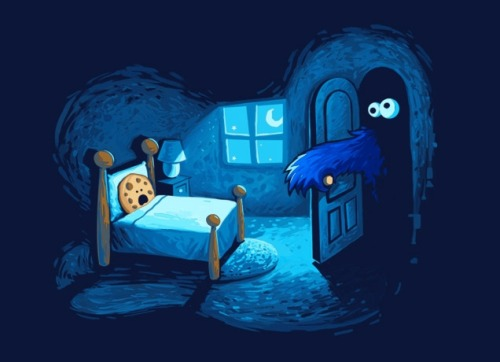 """Monster in the Closet"" Cookie Monster tee over at Threadless"