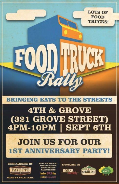 WE CAN'T BE MORE EXCITED TO CELEBRATE ONE YEAR OF FOOD TRUCK RALLY GOODNESS IN BOISE!  #FOODTRUCKRALLY