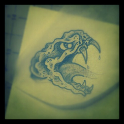 Little piece of a larger project. #drawing #spittinvenom #savage #snake (Taken with Instagram)