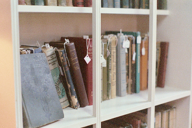ins0litus:  old books by sunflowering on Flickr.
