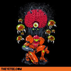 theyetee:  Mother Brain by Austin James  20 minutes left to pick up my Metroid shirt from The Yetee for a mere 11 smackers! Hurry!