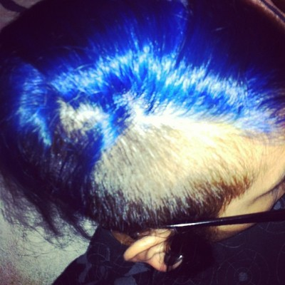 Soo blue :) #blue #bluehair  (Taken with Instagram)