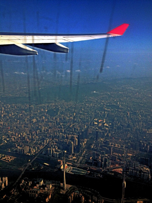 Flying over Guangzhou!