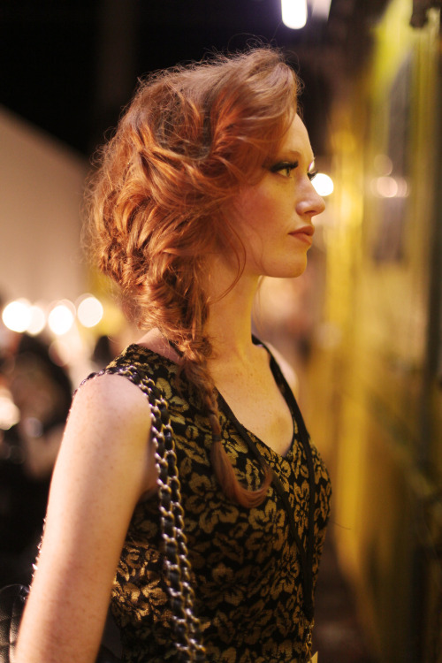 Redheads always steal the show. DL 1961 Spring 2013 collection.