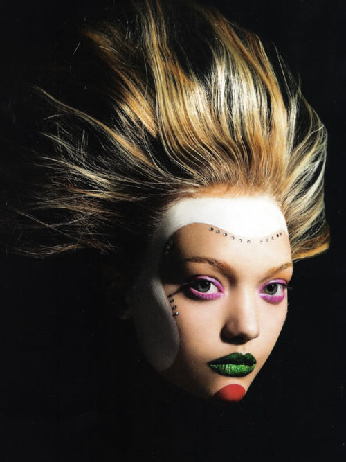 Masquerade Gemma Ward by Mario Sorrenti for Vogue Italia July 2006