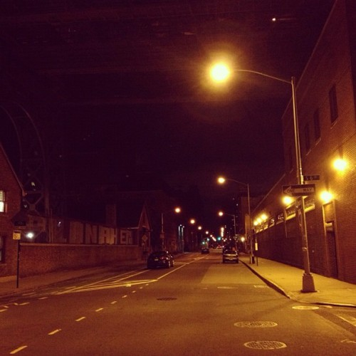 Night biking through Brooklyn + an episode of RadioLab about words. (Taken with Instagram)