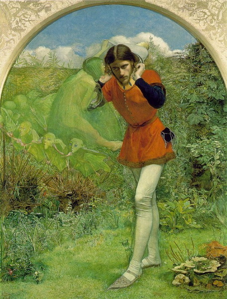 "John Everett Millais - Ferdinand Lured by Ariel He is listening to Ariel singing the lyric ""Full fathom five thy father lies"".     Hor Lege Artis - Ralph Vaugan Williams ' by Tapok Svoylochnyi"