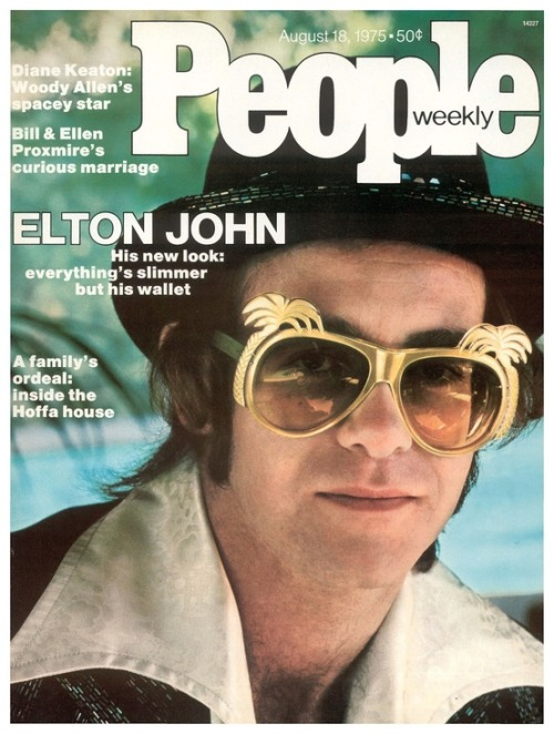 superseventies:  Elton John on the cover of People magazine, August, 1975.