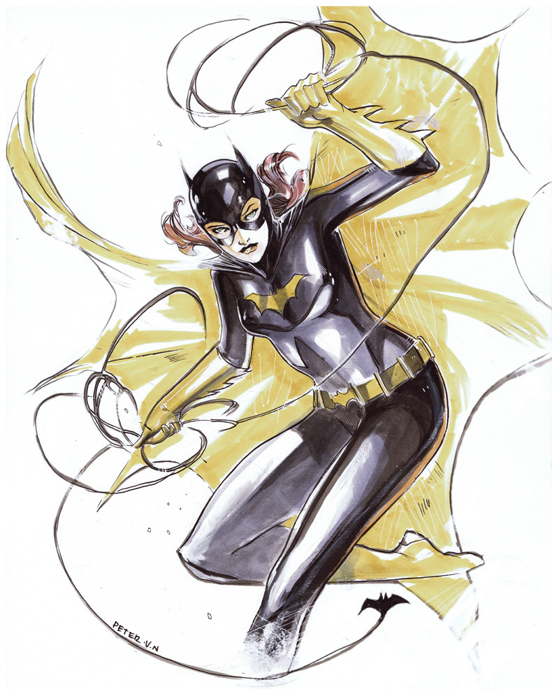 Sorry this is my 50th batgirl on my tumblr, she just too fun to draw … way to fun  a precommission done for #Nycc