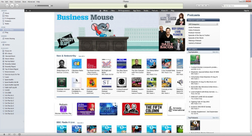 Brilliant to see Business Mouse getting a big ol' mention on the topline of Itunes for the last few days! He's liking it, yeah!?