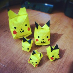 #pokemon #pikachu #origami yeah. (Taken with Instagram)