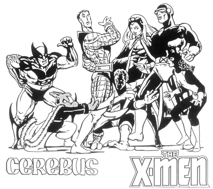Cerebus and the X-Men by Dave Sim and Paul Smith.
