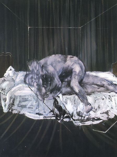 thesavagesgallery:  Francis Bacon (1909-1992) Two Figures, 1953.Oil on Canvas, 152.5 x 116.5 cm.