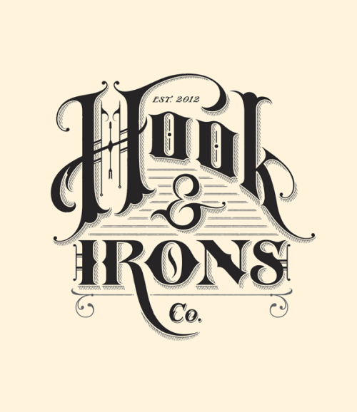 typeverything:  Typeverything.com Hook & Irons Co. Branding, custom lettering & Illustration by Ginger Monkey.