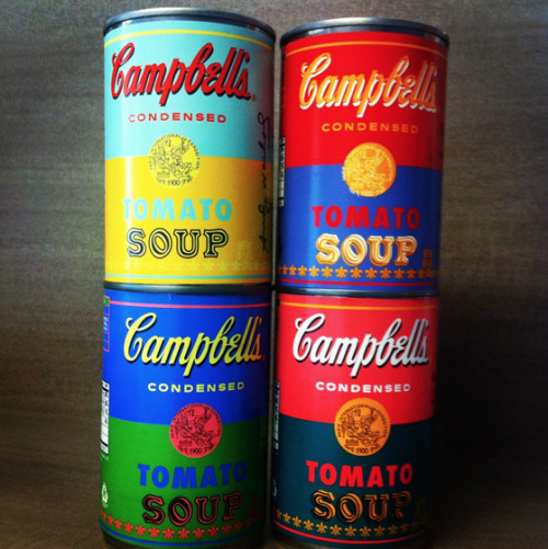 Warhol Soup tins… to celebrate 50 years since Warhol made the iconic campbells soup tin into art. Campbells are releasing 1.2 million in the US. I want one though, apparently on eBay. For more info see http://www.creativereview.co.uk/cr-blog/2012/august/campbells-soup-warhol