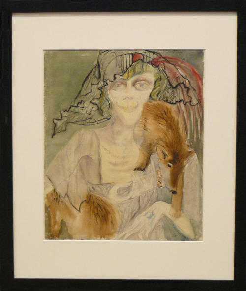 Otto Dix - Dame mit Fuchspelz (Lady with Fox Boa)1925After a museum visit, I usually re-visit my favourite works by looking for them online.In this case that seemed to be impossible. It's nowhere to be found..