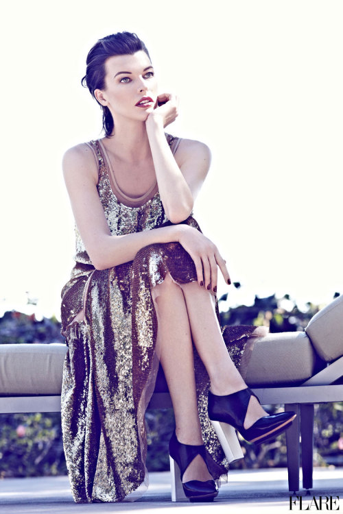 flarefashion:  Milla Jovovich - October 2012 / Fashion Director: Elizabeth Cabral / Acting Art Director: Benjamin MacDonald / Photographer: Max Abadian Video: See Milla in action on the set of her FLAREcover shoot and preview our cover story.