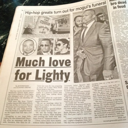 rapradar:  Lighty. (Taken with Instagram)  'much love for Lighty…'