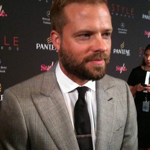 Designer Simon Spurr #nyfw  (Taken with Instagram)