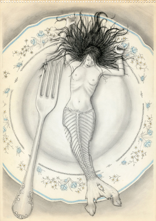 fer1972:  Mermaid on a Plate by Gorka Olmo