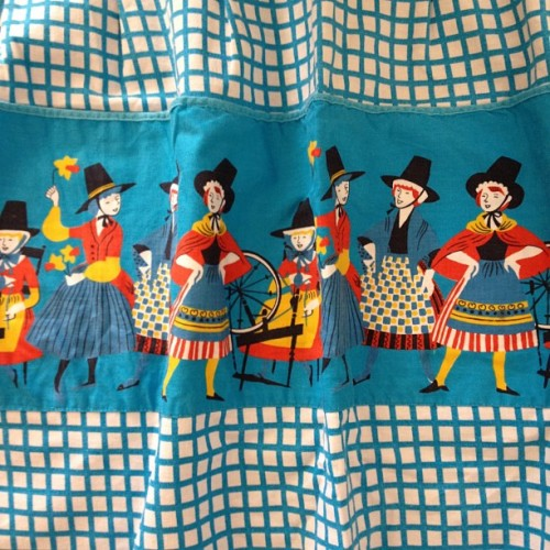 How cute is this little pocketed apron? Loving the Romanian folk tale feel! In store now #vintage #reloved (Taken with Instagram)