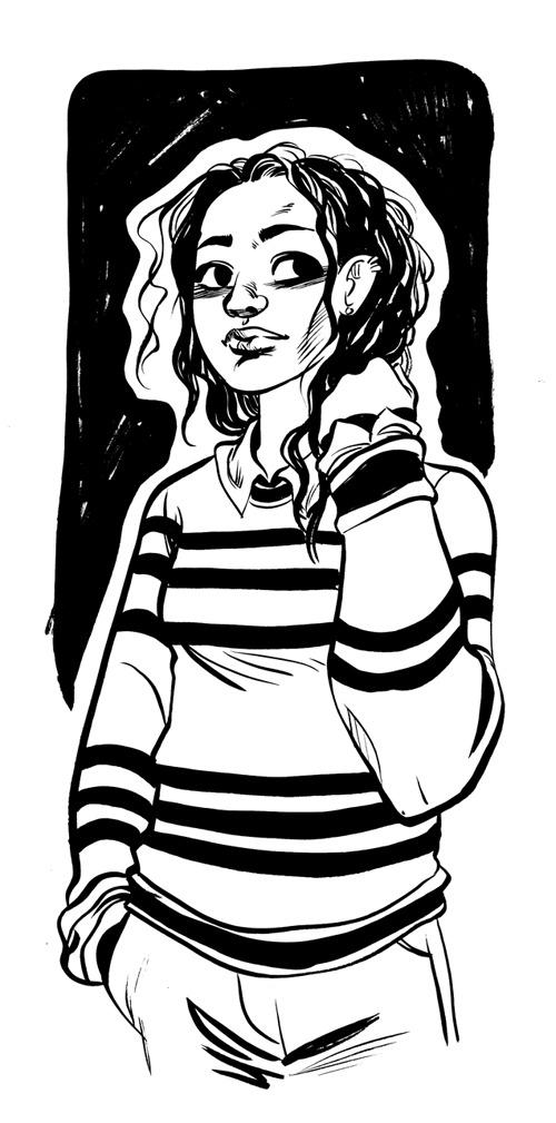 Illustration girl fashion comics