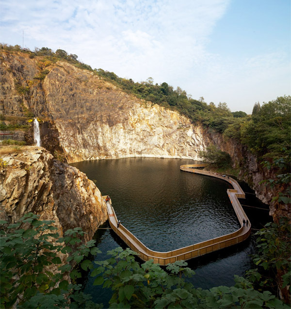 architizer:  Shanghai Botanical Has One Rockin' Quarry Garden