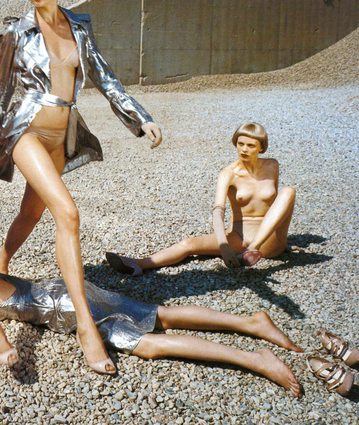'trendspotting' by steven meisel for vogue italia july 2004