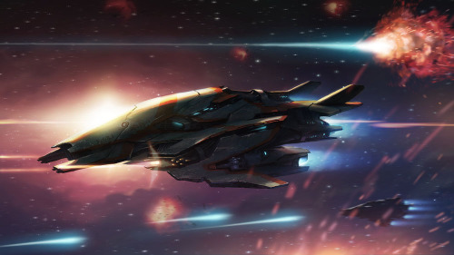 Alien Space Fighter by Stuart Ng