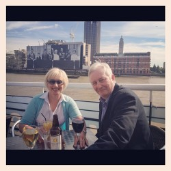 Parents upon the river bar! (Taken with Instagram)