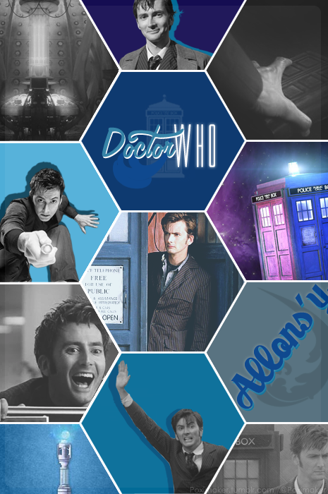 • Doctor Who Collage: David Tennant. By @Poximaker // Poximaker.tumblr.com