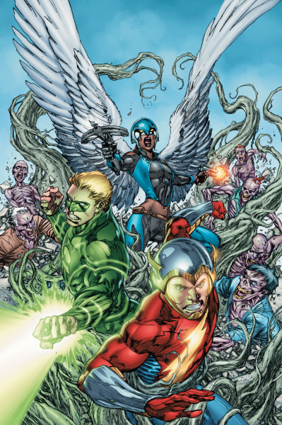 "James Robinson spoke with CBR about Earth 2 #0 and upcoming issues. He drops these hints about what is to come in the series.  It seems the new heroes are still getting their feet wet, and you've just introduced the Atom and hinted at his and Kendra's unknown history. Yes, and that's all tied into an arc to come. Issues #7 and #8 are both single stories that focus on different aspects of Earth 2 and will feature subject matter and characters that will be a surprise for readers. I think, they'll be very excited by who we're focusing on. Then issue #9, the next arc I'm doing, focuses on magic on Earth 2. I'm not going to say who I introduce in that arc, but it doesn't take a brain surgeon to work out! We will be coming back to Hawkgirl's relationship to the World Army and the government, which will be something that will lead off in directions people won't be expecting. I think they will be very excited and happy about it when they do find out what [those directions] are.  My ""guess"" is Doctor Fate."