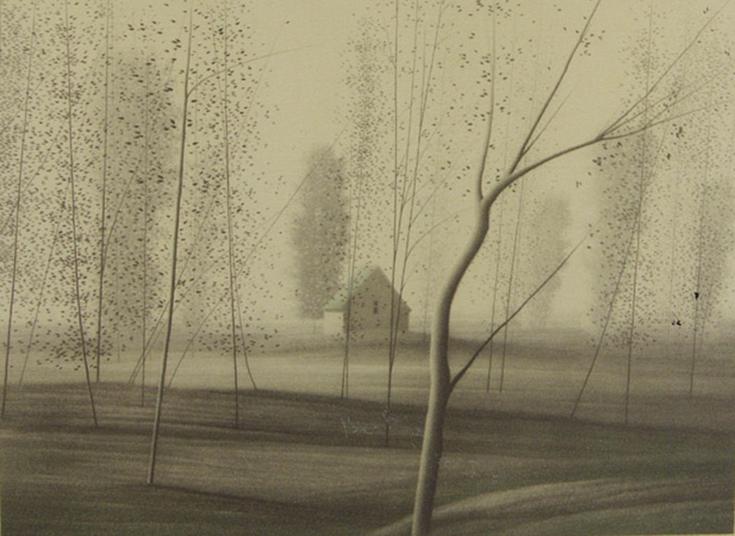 Robert Kipniss(American, 1931. Spring Secrets, 1980. lithograph on paper. (via: iamjapanese)