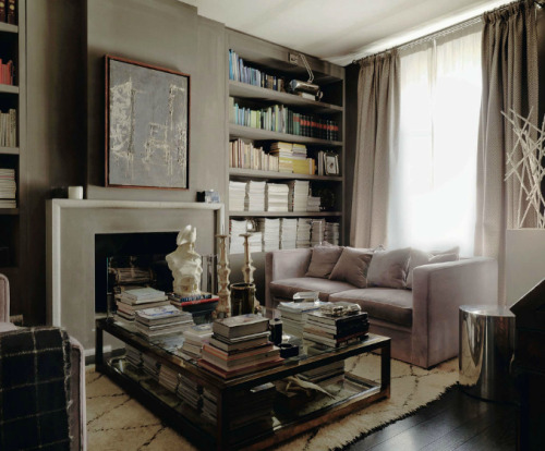 A little masculine, but so lovely! And the shelves! OMG.