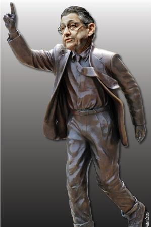 New York Post photoshops Sheldon Silver's image onto a statue of Joe Paterno. h/t @JonCampbellGAN