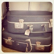 Vintage suitcases - we love them!!  WebThriftStore