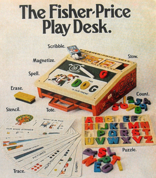 thingsmagazine:  Fisher Price Play Desk, one of many, many items at Christian Montone's photostream