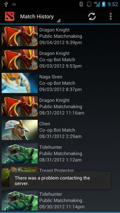 Looks like there have been issues with the Match History API from Valve. Hopefully things will smooth over soon, but until then please be patient!