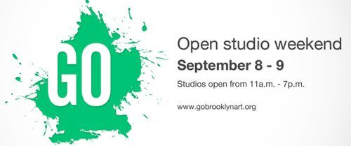 I'll be participating in GO open studios this weekend. I would love to have visitors, so please stop by. The hours are 11AM-7PM Sat and Sun, though I do have to close up around 4 on Sunday for another commitment. Hope to see you there.  Yay Brooklyn:)