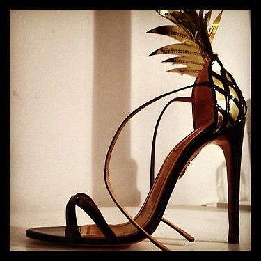 """The piña colada shoe from aquazzara spring collection"" - @WmagWill Follow W editors on Twitter and Tumblr."