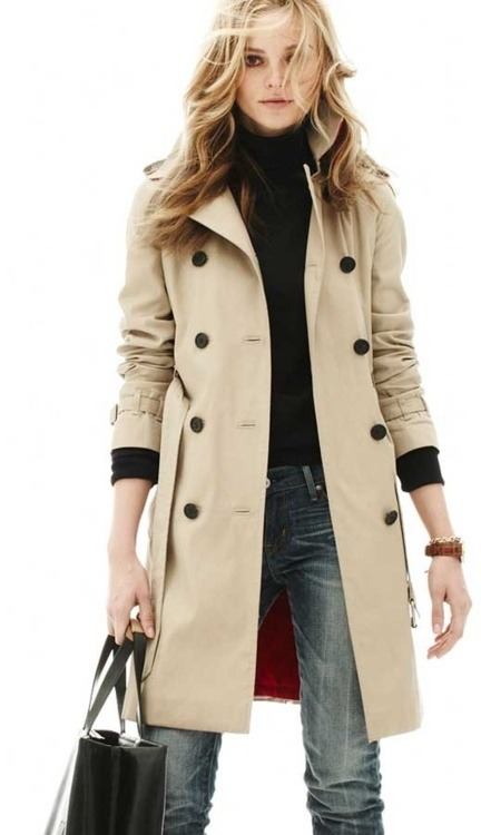#PinterestFashionFind: Because every women needs one great trench.