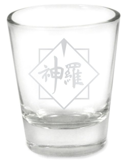 Shinra Final Fantasy VII Etched Shot Glassby ScallywagDesign - $9.13