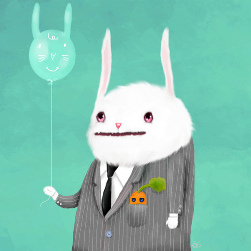 urhajos:  'Bunny in a Grey Flannel Suit' by Dale Keys