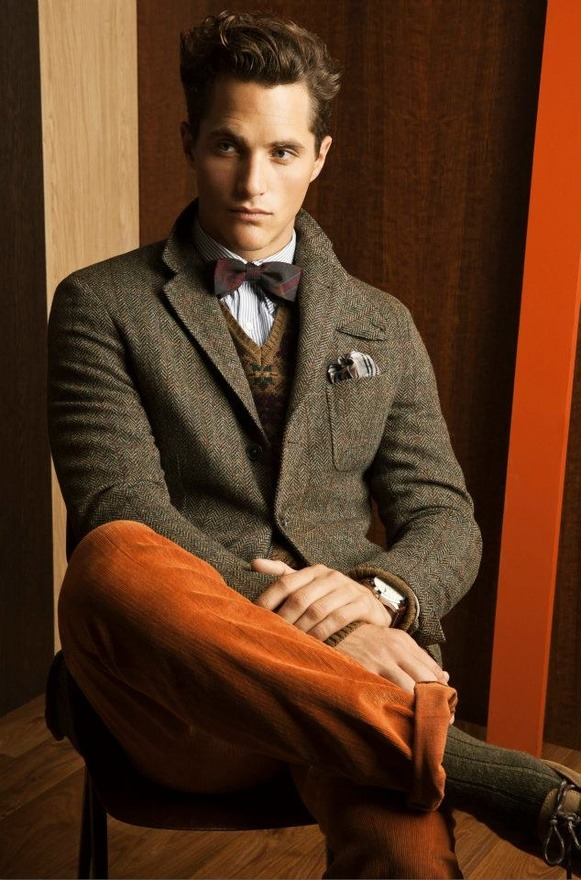 Looking good in tweed and burnt orange corduroy - I can promise you I have never used that sentence before!