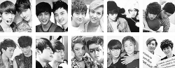 sigh exo tao EXO-K EXO-M Kai yeah but sehun Luhan Lay Kris Chen Kyungsoo baekhyun suho chanyeol ot12 xiumin ot66 lol this is a lot of hardwork btw and is supposedly gifs it was hideous and i'm honestly really honestly afraid to post this because and i'm sorry it was so HARD to find decent xiuhun pictur it's either too small or have crappy quality orz