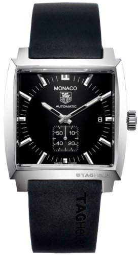 menskit:  The classic TAG Heuer Monaco II watch in black - still looks idiosyncratically  great!
