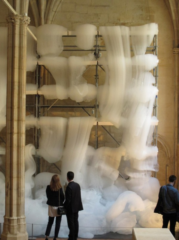 ofp:  (via Michel Blazy Fills a Monastery With Cascades of Foam)